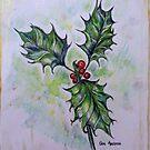 Ilex aquifolium or Holly by Gea Austen