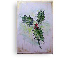 Ilex aquifolium or Holly Canvas Print