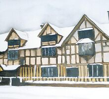 Shakespeare's Birthplace by Jonathan Kereve-Clarke (Coventry Artist)