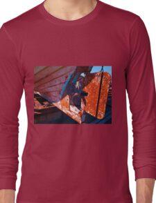 Old rust boat restoration Long Sleeve T-Shirt