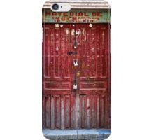 Doors of Bolivia - The Red Door iPhone Case/Skin