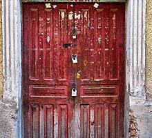 Doors of Bolivia - The Red Door by lenscraft