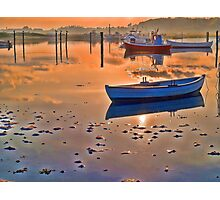Reflection of a small dinghy dory boat Photographic Print