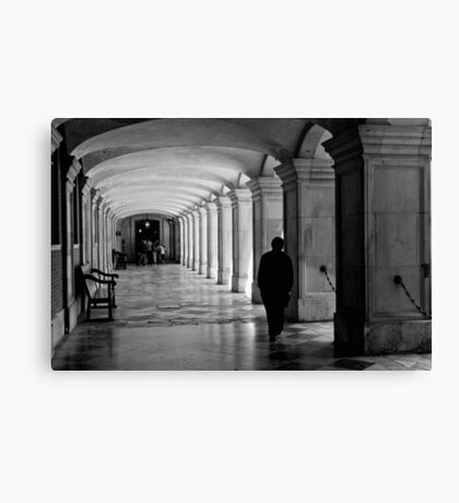Pacing the cloister - Hampton Court Palace - London UK Canvas Print