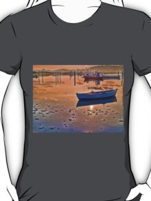 Reflection of a small dinghy dory boat T-Shirt