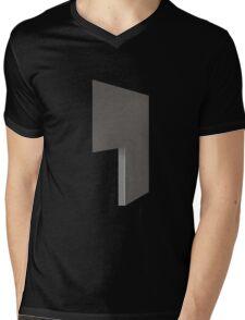 Glitch Homes Wallpaper darkgrey stucco left divide Mens V-Neck T-Shirt