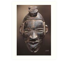 African tribal mask of Ogoni people in Nigeria Art Print