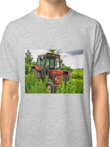 Old vintage tractor digital art manipulation Classic T-Shirt