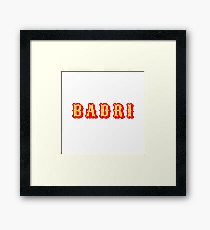 Badri Framed Print