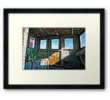An old wooden shed Framed Print