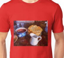 Classical breakfast outmeal waffer and jam  Unisex T-Shirt