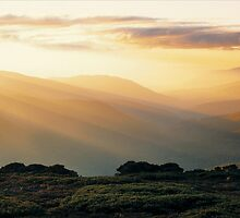 Bogong Sunset by Ern Mainka