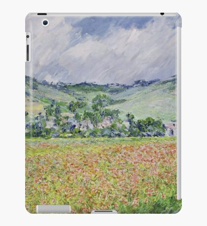 Claude Monet - The Poppy Field Near Giverny iPad Case/Skin