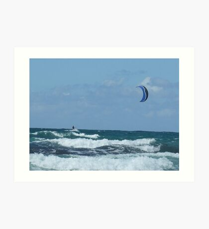 Kite surfer cornwall Art Print