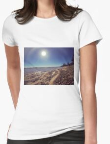 Sunshine at Lennox Head Womens Fitted T-Shirt