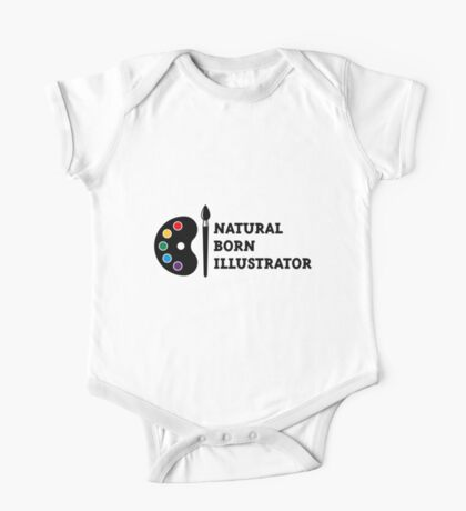 Natural Born Illustrator One Piece - Short Sleeve
