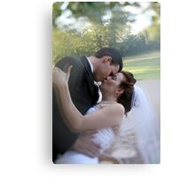 Sweet Romantic Embrace Canvas Print