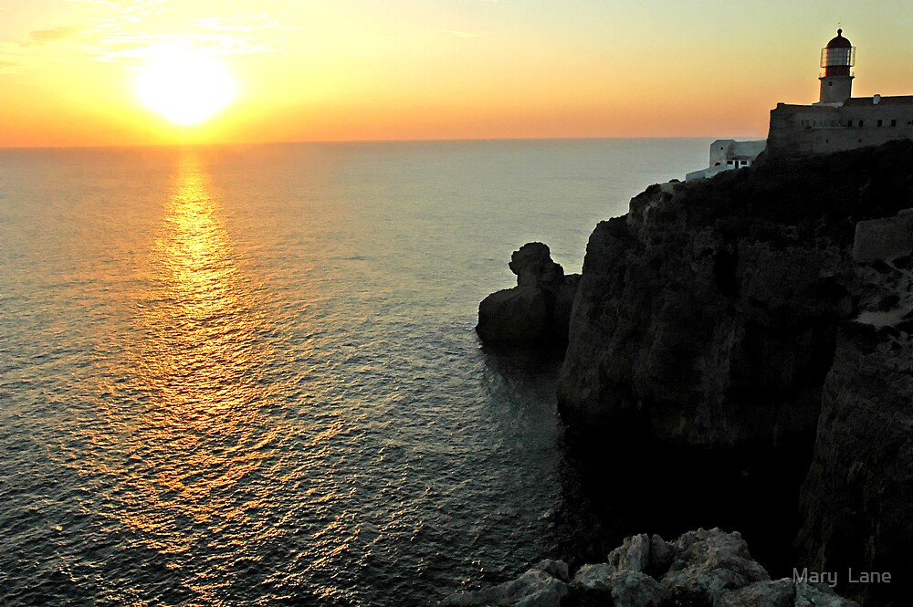 Sagres Sunset by Mary  Lane
