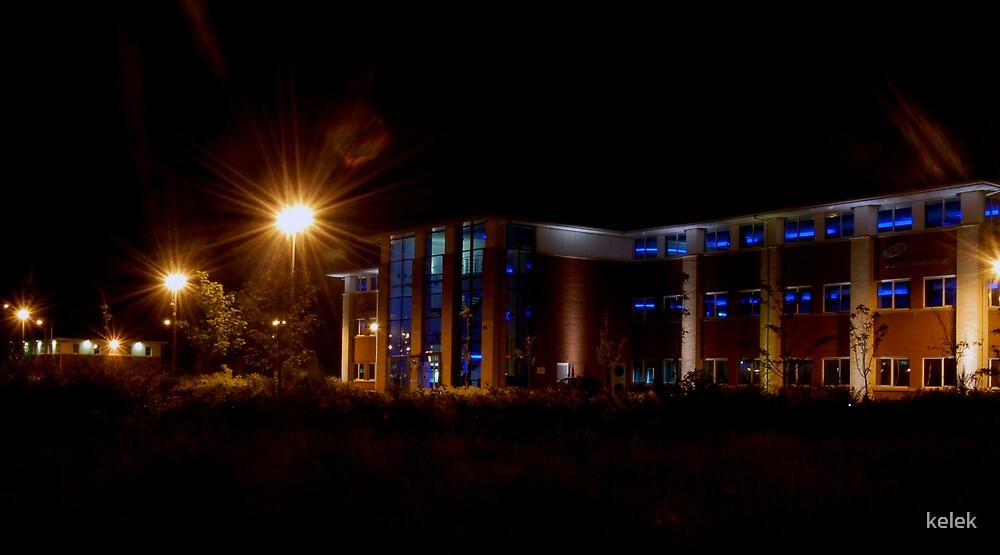 Blue light building by kelek