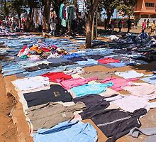 Used Clothing Market, Mozambique by Tim Cowley