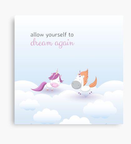 Cute unicorns collection Canvas Print
