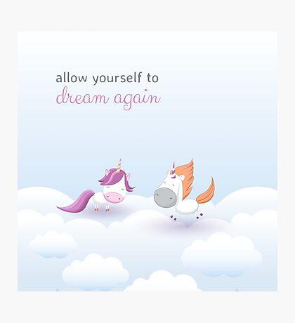 Cute unicorns collection Photographic Print