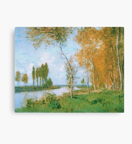 Claude Monet - The Spring In Argentuil, 1872 Canvas Print