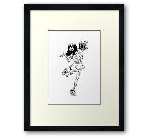 Roller Girl Framed Print
