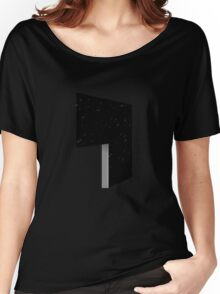 Glitch Homes Wallpaper darkstar black left divide Women's Relaxed Fit T-Shirt