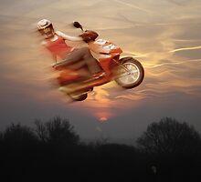daredevil rides the sky by scharliem