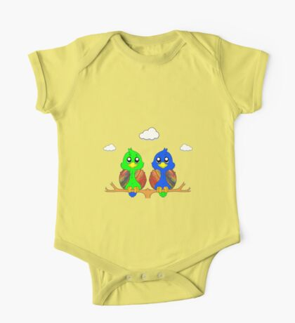 Two Birds In A Tree One Piece - Short Sleeve