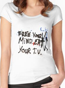 Eat TV Women's Fitted Scoop T-Shirt
