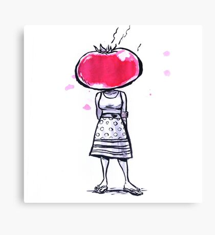 Tomato Face Canvas Print