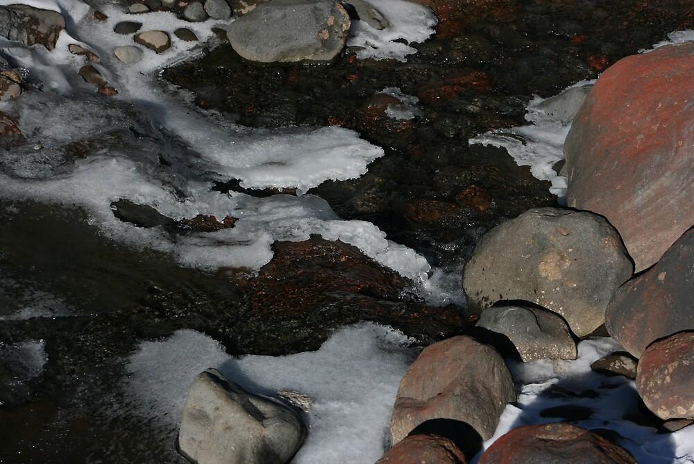 A Winters Stream by mickey altmann