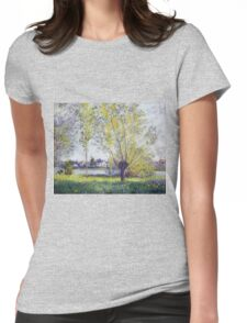 Claude Monet - The Willows, 1880 Womens Fitted T-Shirt