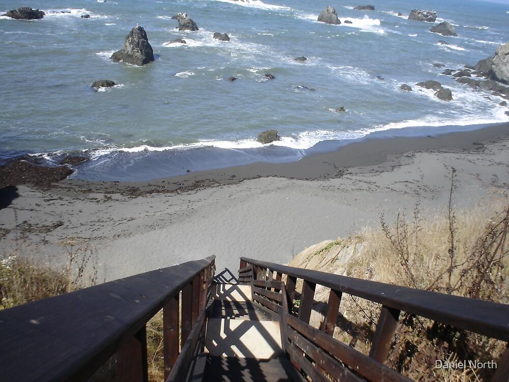 Beach Stairway by Daniel North