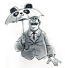 Rainy Day Panda by Kate Moon