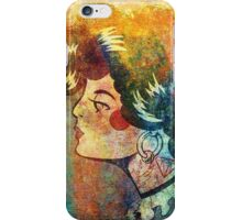 The Lady - Color Grunge iPhone Case/Skin