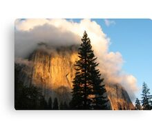 Sunset on El Capitan Canvas Print