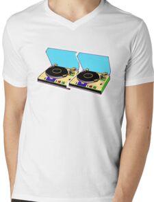 retro music Mens V-Neck T-Shirt