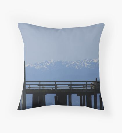 Majestic Dock View Throw Pillow