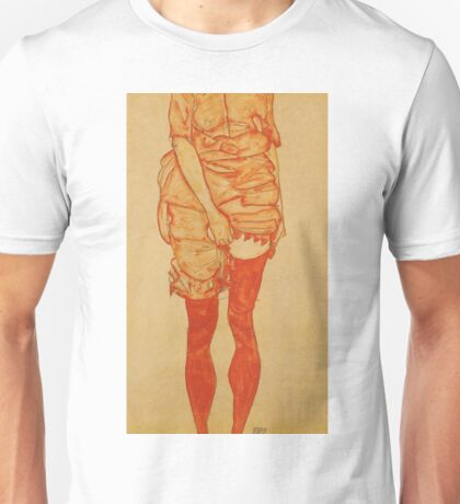 Egon Schiele - Standing Woman In Red 1913 Unisex T-Shirt