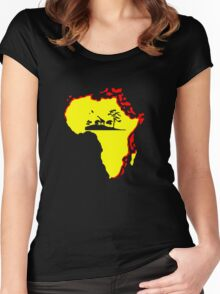 african sunrise t-shirt Women's Fitted Scoop T-Shirt