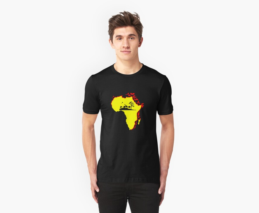 african sunrise t-shirt by ralphyboy