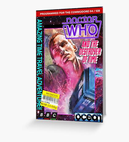 9th Doctor Commodore 64 Video Game Cover! Greeting Card