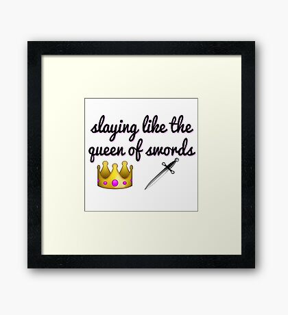 Idina Menzel - Queen of Swords Framed Print