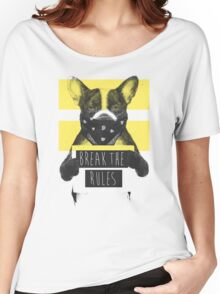 Rebel dog (yellow) Women's Relaxed Fit T-Shirt