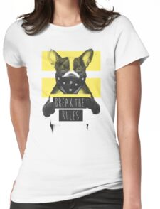 Rebel dog (yellow) Womens Fitted T-Shirt