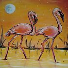 flamingos by kaleidoscopecreation