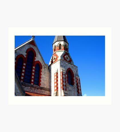 Church: Red and Blue Art Print